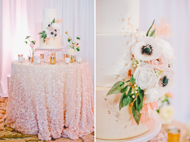 sequin tablecloth cake table