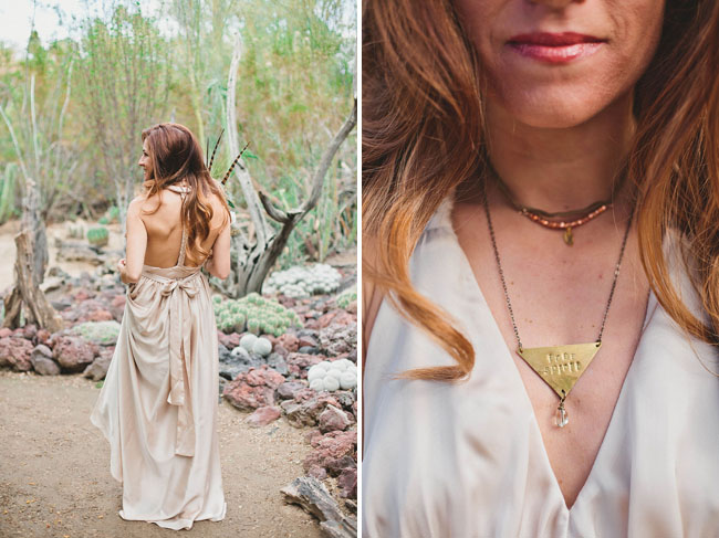 modern triangle necklace