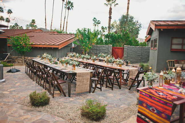 desert tablescape reception