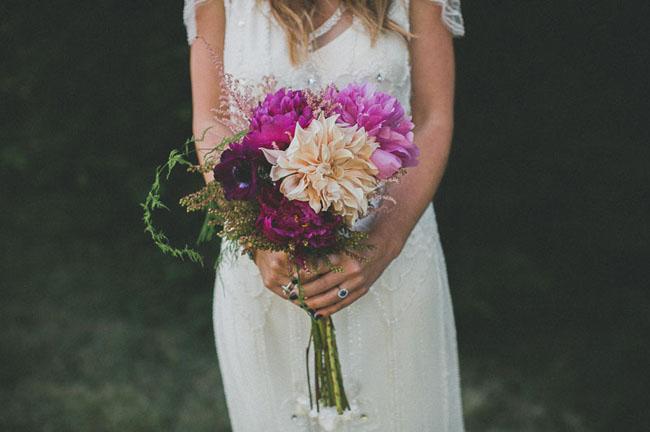 dahlia and peony bouquet
