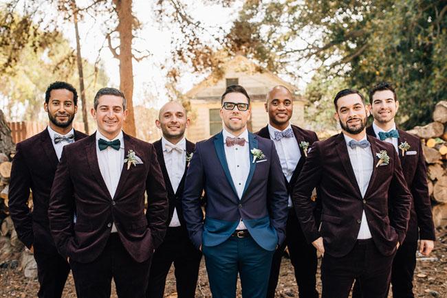 velvet jacket groomsmen