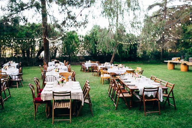 Vintage reception tables