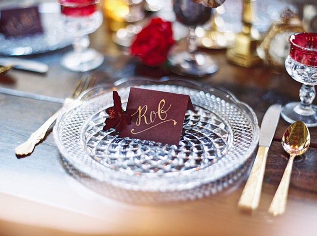 maroon name card
