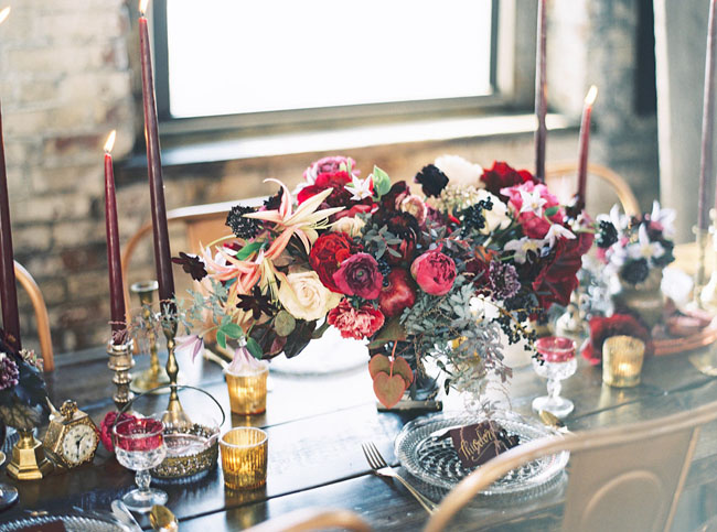 Winter Berry centerpiece