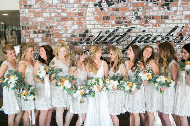 lace dress bridesmaids