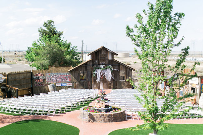 ribbon garland barn backdrop