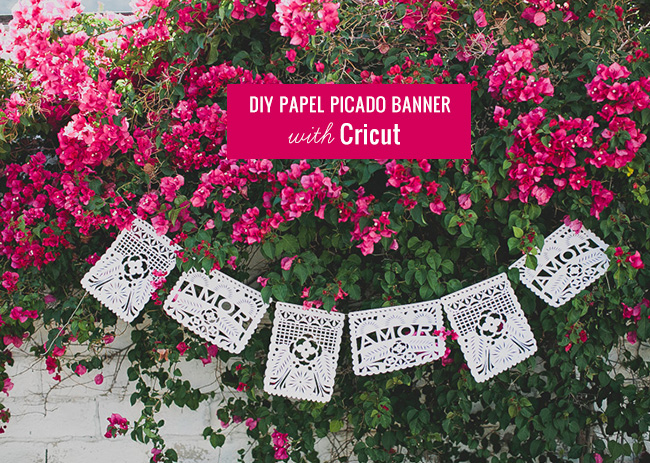 DIY Papel Picado Banner with Cricut - Green Wedding Shoes