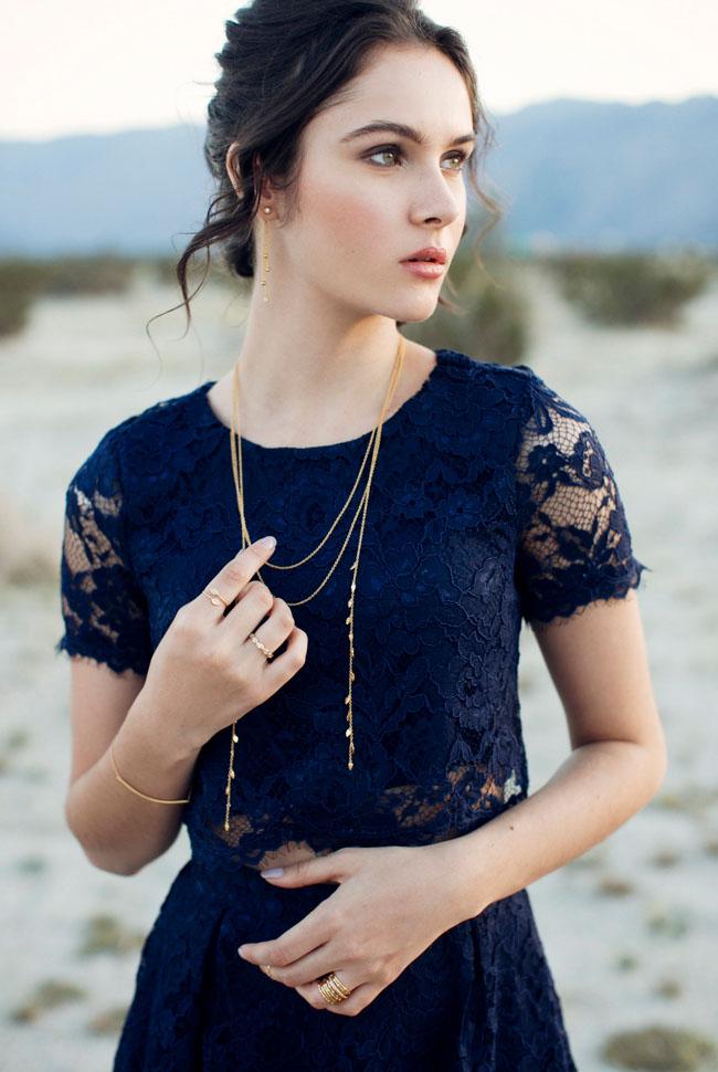 GWS x Gorjana Leaf Necklace
