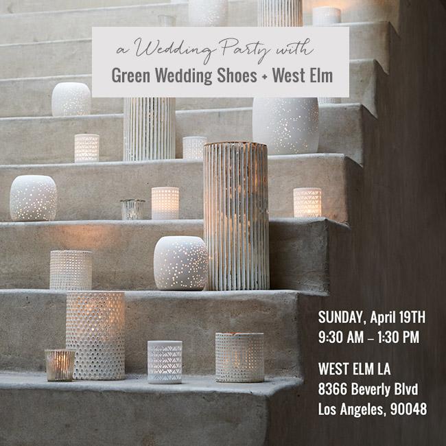 Green Wedding Shoes + West Elm Wedding Party