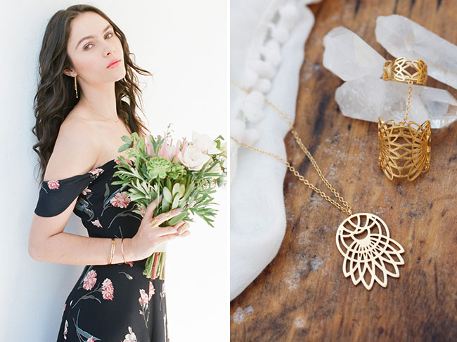 Lace Necklace and Ring from GWS x Gorjana