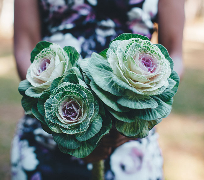 cabbage flower bouquet