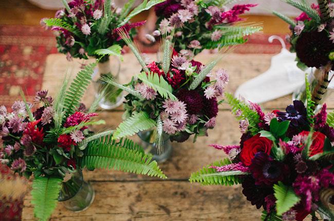 bold color bouquets