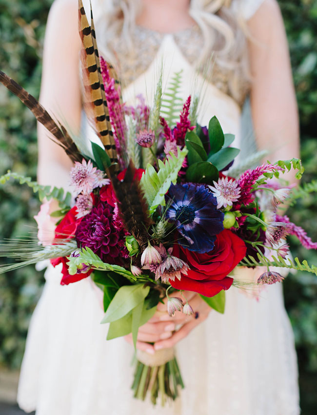 bold feather bouquet