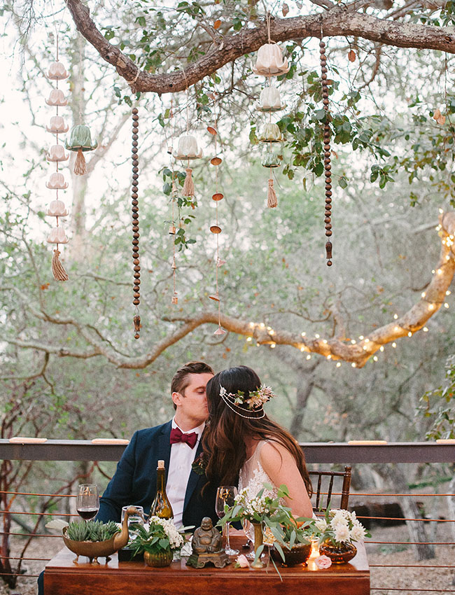 Ranch reception sweetheart table