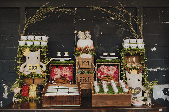 whimsical dessert bar