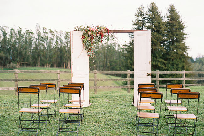 vintage door ceremony