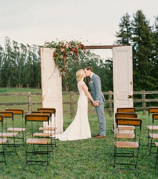 Rustic Wedding Arbors: Rustic Wedding Inspiration At Devine Ranch