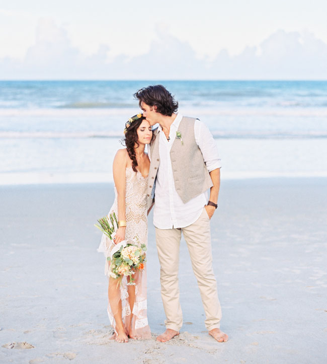 Eclectic Destination Beach Wedding Mica Gavin Green