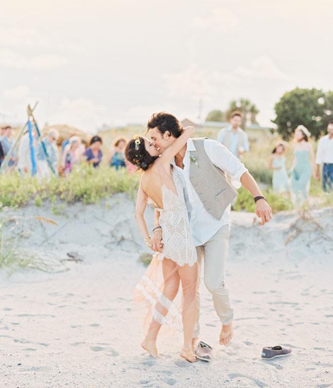 Eclectic Destination Beach Wedding: Mica + Gavin - Green Wedding Shoes