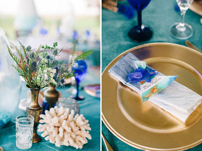 beach tablescape decor