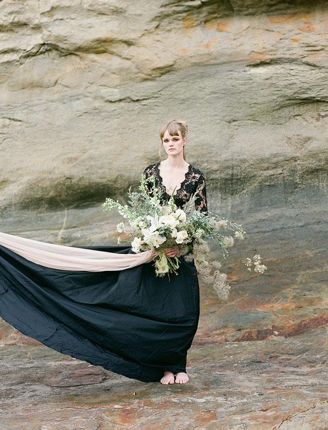 whimsical black dress