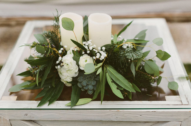 christmas inspired centerpieces