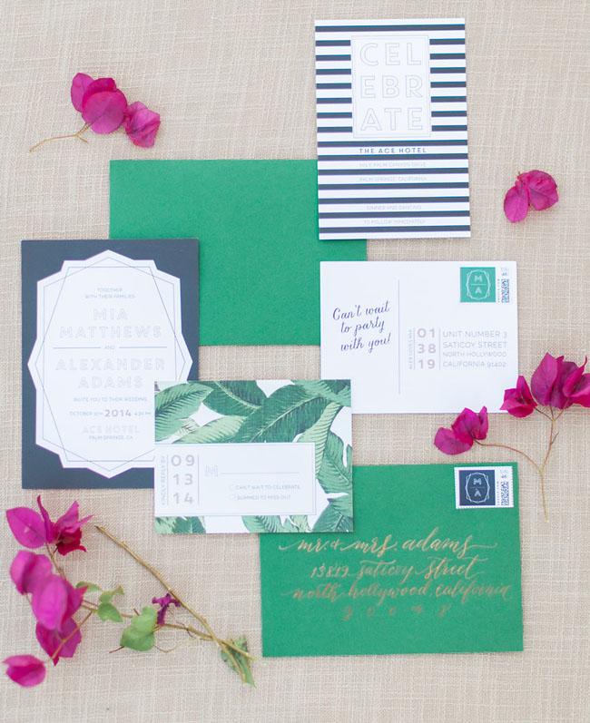 palm leaf invitation