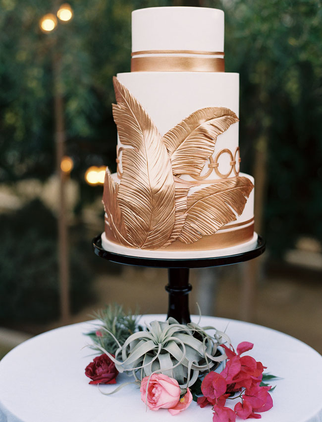gold palm cake