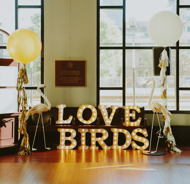 love birds marquee