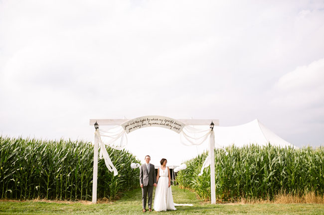 wooden entrance arch