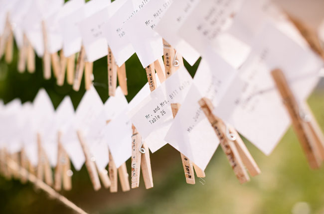 wooden pin escort cards