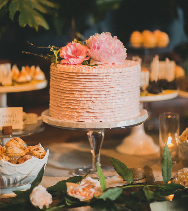 ruffled pink cake