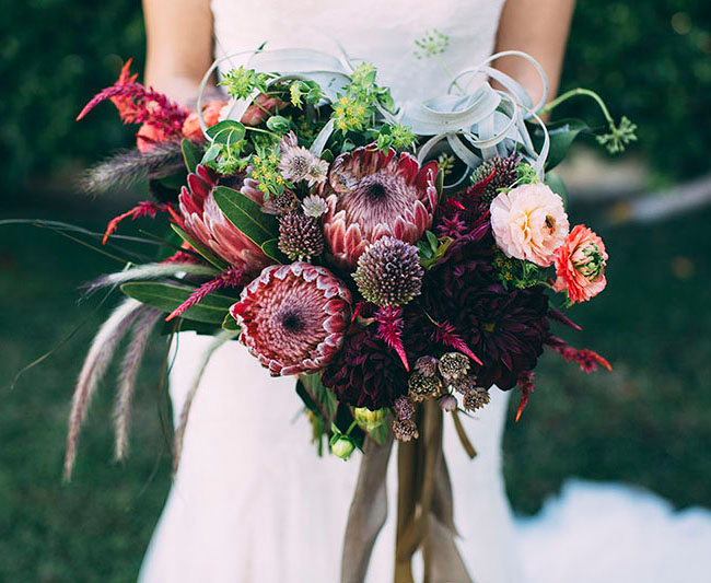 desert wedding bouquet