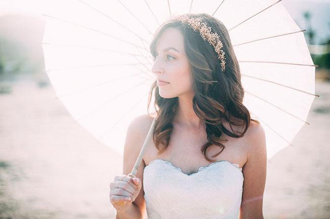parasol and bride