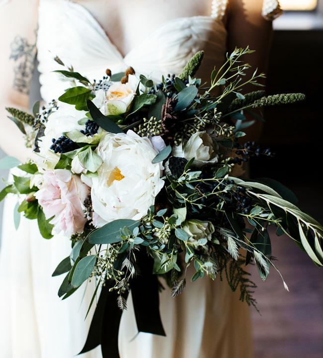 whimsical mountain bouquet