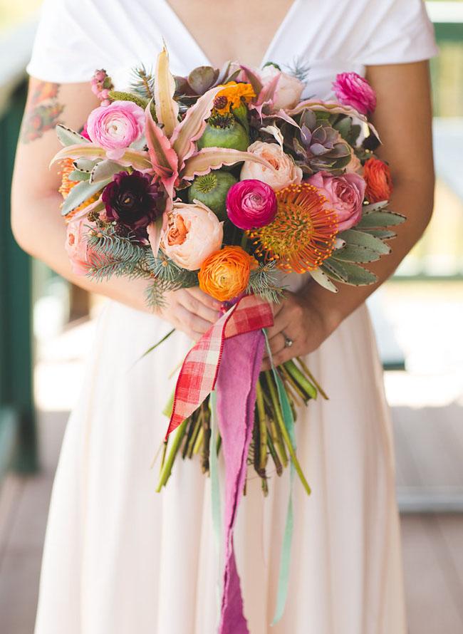 pink juliet rose bouquet