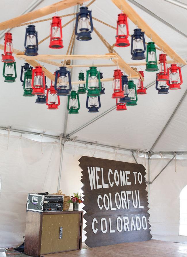 camp lantern ceiling