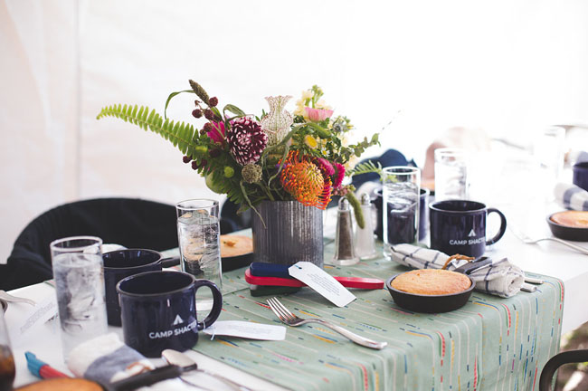camp tablescape