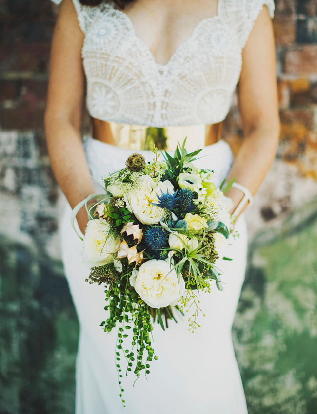 blue touch bouquet
