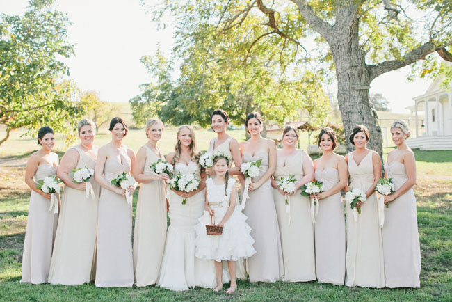 nuetral bridesmaids