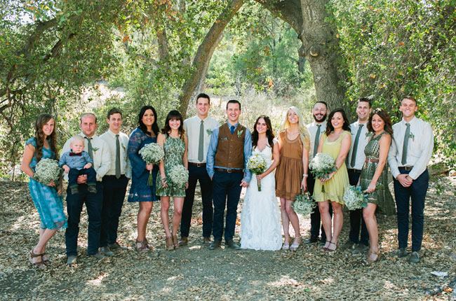 rustic bridal party