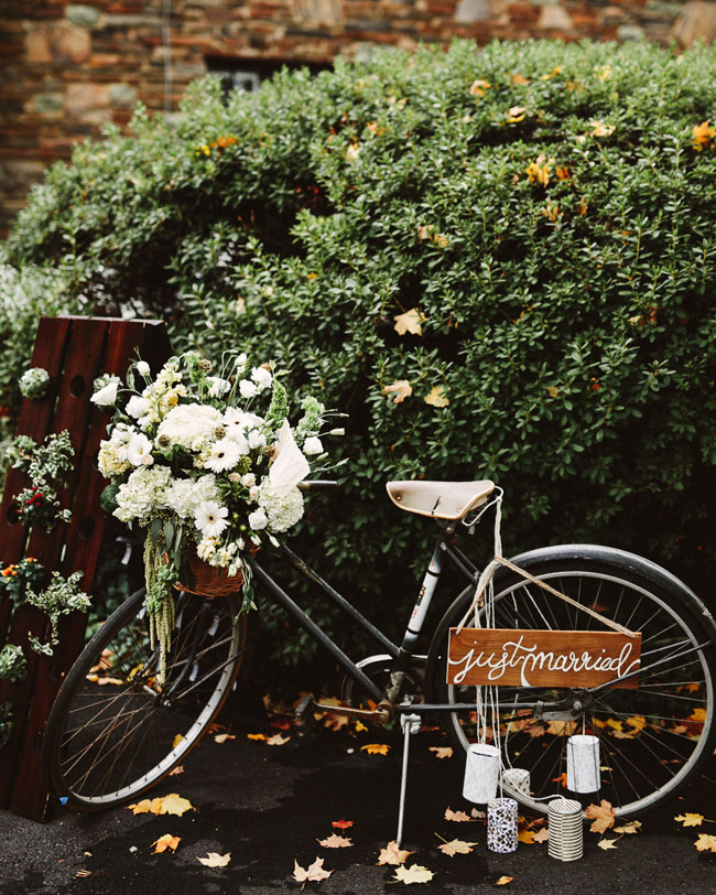 bike filled with flowers