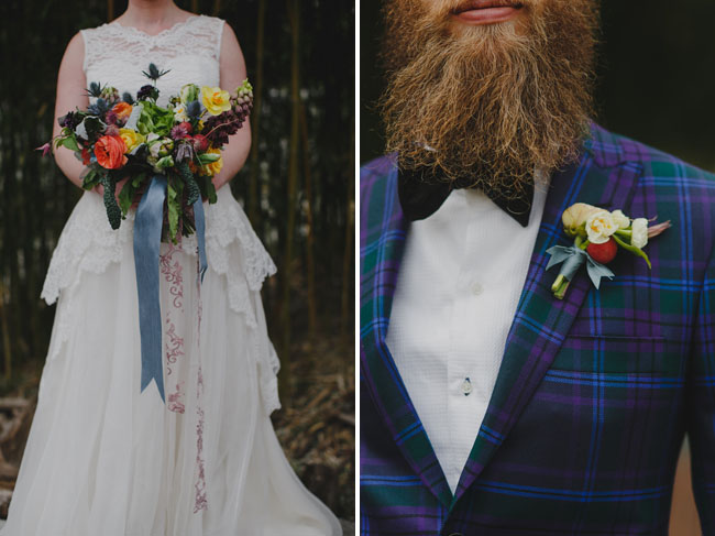 plaid grooms suit