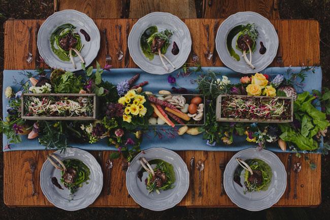 veggie centerpiece