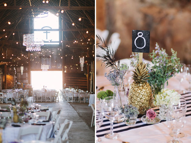 gold pineapple table numbers