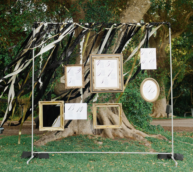 frame escort card display