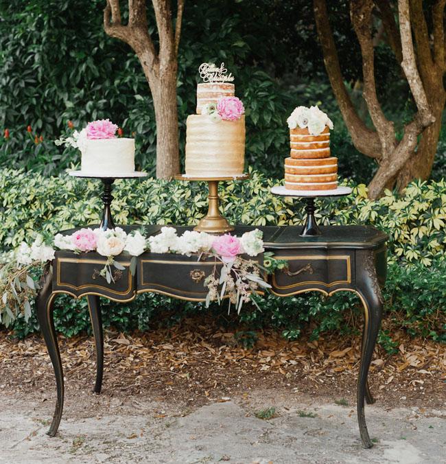 vintage dresser cake stand