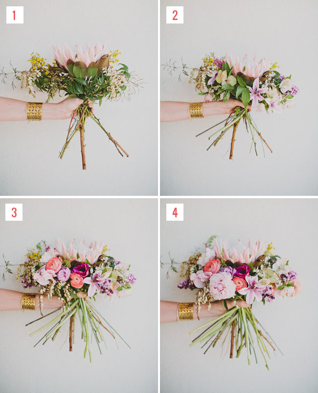Diy king protea spring bouquet green wedding shoes for King protea flower arrangements