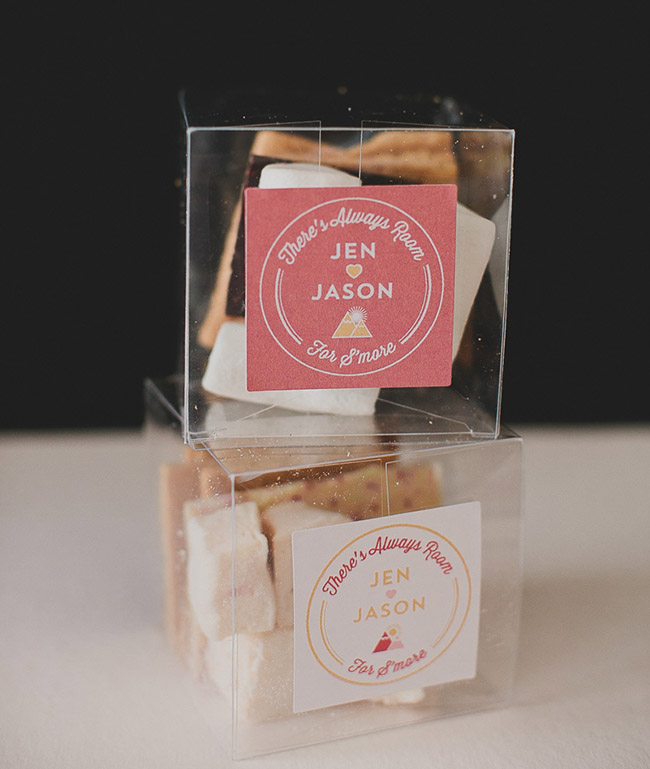 wedding favors smores