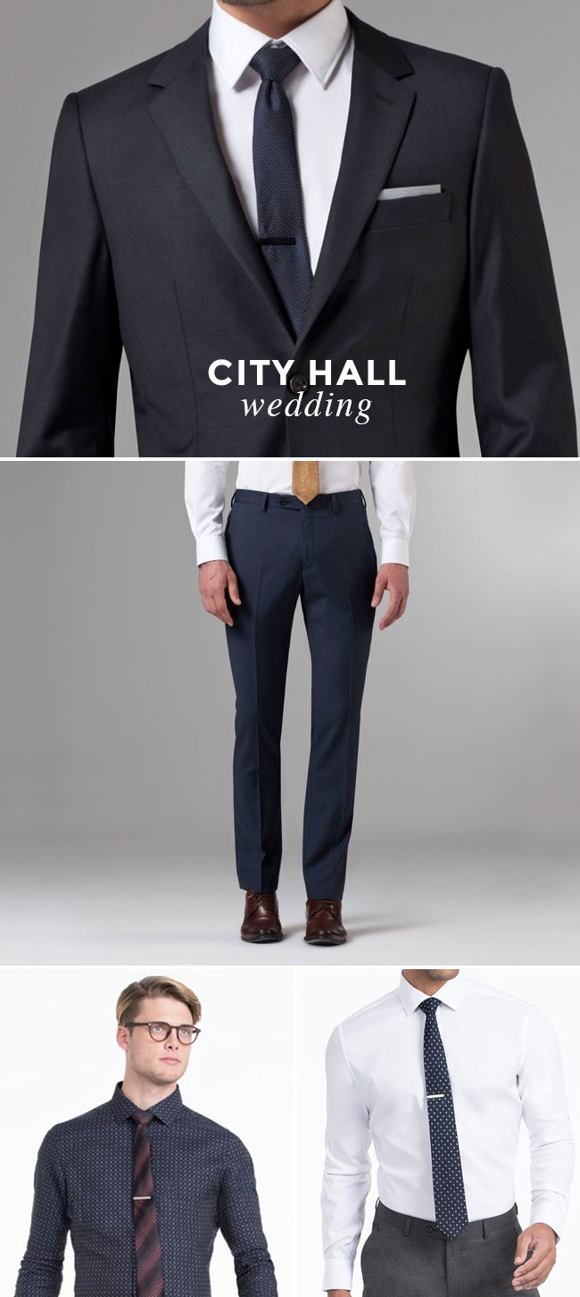 What to Wear to A Wedding - Guy Edition - City Hall Wedding